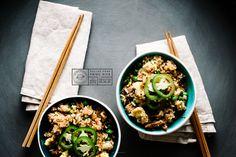 pulled pork fried rice recipe - www.iamafoodblog.com #recipe #friedrice #pulledpork