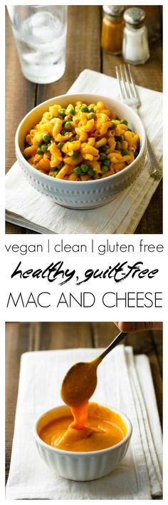 A delicious, simple healthy mac and cheese. I could eat this every day! Vegan, gluten free, nut free, easy to make.