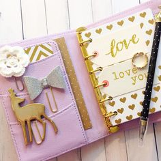My Kikki K Lilac & Gold all dressed up for use!