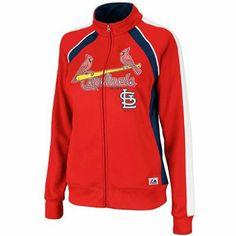 St. Louis Cardinals Majestic Ladies Track Jacket #cardinals #mlb #stlouis