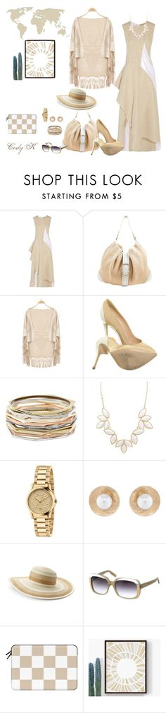"""""""Beige & White"""" by cody-k ❤ liked on Polyvore featuring Marni, Giorgio Armani, Versace, Kendra Scott, Charlotte Russe, Gucci, Oscar de la Renta, Croft & Barrow, Italia Independent and Casetify"""