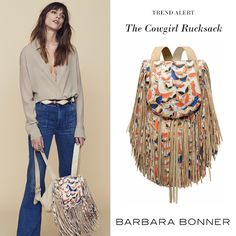 Make a timelessly chic choice with Barbara Bonner's coolest Cowgirl Rucksack.