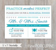 Rehearsal Dinner Invitation Practice Makes by TheFinePorcupine