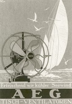 Peter Behrens, poster for AEG, 1910s