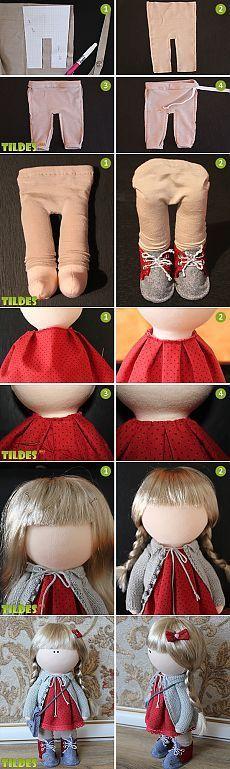 Шьем одежду для интерьерной куклы. Мастер-класс ... ♥ Deniz ♥