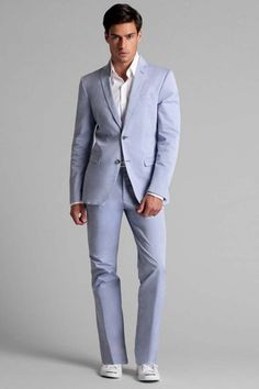 Destination Wedding Suit of the week  Guess by Marciano Traje Azul Claro f68eb9d8fbc