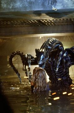 An alternative angle of Newt's encounter with the Alien in #Aliens (1986)