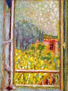 Painting Title The Small Window La Petite fenetre 1946 Artist Pierre Bonnard 18671947 Medium Fine Art Painting Reproduction by Pierre Bonnard, Paul Gauguin, Window Art, Open Window, Window View, Henri Matisse, Oeuvre D'art, Contemporary Artists, Painting Inspiration