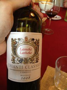 Che sarebbe un classico di chianti classico, ma preso a Lamole è ancor più buono :)