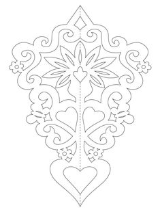 Paper ornaments with flowers templates) Bird Stencil, Damask Stencil, Stencil Patterns, Stencil Designs, Embroidery Patterns, Cow Skull Art, Chinese Paper Cutting, Origami Paper Folding, Dragon Sketch