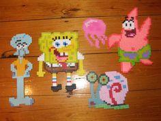 Spongebob characters perler beads by Allyson K. - Perler® | Gallery