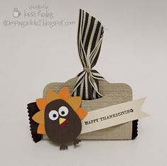 Turkey Treat or Name Place Card :: Confessions of a Stamping Addict