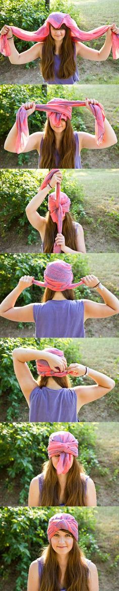 DIY Scarf Turban! Pixie bad hair day                              …