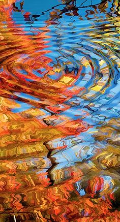 i love these colors and the ripples ....i want to make a wall quilt that looks exactly like this