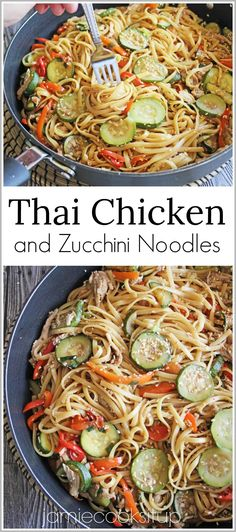 Thai Chicken and Zucchini Noodles