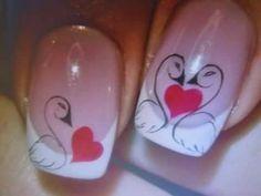 Lindo Nail Art Coeur, Painted Staircases, Animal Nail Art, Nail Polish Art, Toe Nail Designs, 3d Nails, Cute Crafts, Winter Nails, Nail Arts