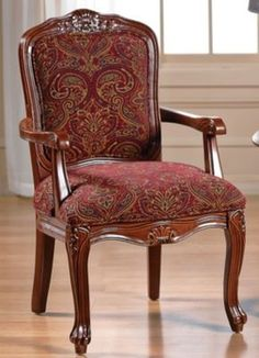 Burgundy Paisley Carved Chair  in Spring Big Book Pt 2 from Fingerhut on shop.CatalogSpree.com, my personal digital mall.