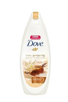 Dove Purely Pampering Body Wash, Shea Butter with Warm Vanilla, 24 ounces by Dove. $8.81. Rich cream infused with shea butter  smoothes dry skin. NutriumMoisture nourishes skin deep down. Dove Body Wash is the #1 choice of dermatologists. Warm vanilla and brown sugar scent. Pampers and cares for your skin like no regular body wash. From the Manufacturer                                                      view larger       Rich cream infused with a touch of caring oil Dis...
