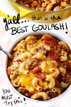 Old Fashioned Goulash Recipe - Johnny Marzetti Recipe Our old fashioned goulash is SO EASY and SO DELICIOUS! Also called American Goulash or Johnny Marzetti, don't miss this beefy, cheesy recipe! Casserole Recipes, Crockpot Recipes, Cooking Recipes, Healthy Recipes, Best Goulash Recipes, Cooking Icon, Steak Recipes, Delicious Recipes, Yummy Food