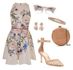 """""""Untitled #227"""" by loril4 on Polyvore featuring Gianvito Rossi, Ted Baker, Jimmy Choo, Serpui, Oscar de la Renta and Inbar"""