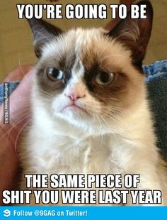 Grumpy cat new year message for all of us lol