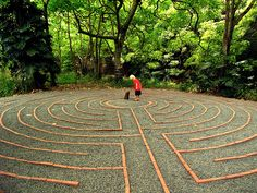 Labyrinth The journey. The Sacred Garden, Haiku, Maui, Hawaii.
