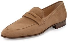 Gravati Suede Penny Loafer, Taupe