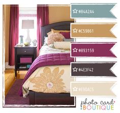 Love this for my bedroom!! Can't wait to redecorate! Purple, blue and brown