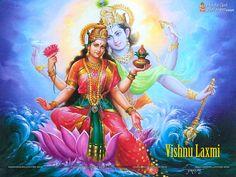 Free Vishnu Laxmi Wallpaper Download