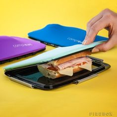 Use this stretchy container to keep your sandwiches from sliding apart.