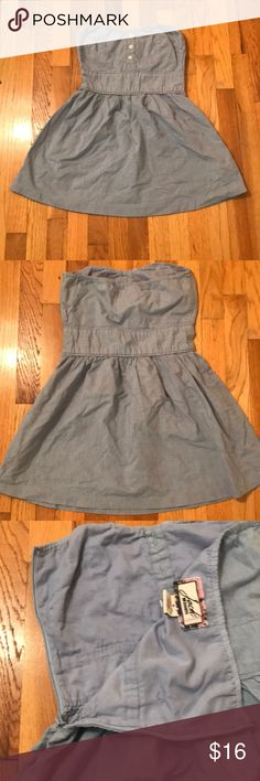 Strapless denim dress Super cute, great for layering! Dresses Strapless