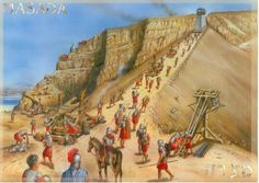 Another painting of the assault on Masada up the ramp by the 10th Roman Legion.