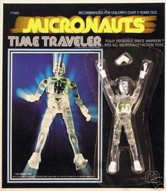 Micronauts Time Traveler - part action figure / part Lego - the figures and vehicles interchange with one another