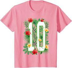 Amazon.com: Floral Number 10 Flower Ten Gardener Summer Flowers T-Shirt: Clothing