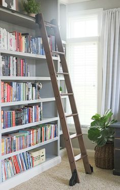Rockler 8 Foot Classic Rolling Library Ladder Kit with 12