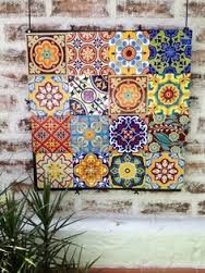 Resultado de imagen para mosaicos pintados a mano