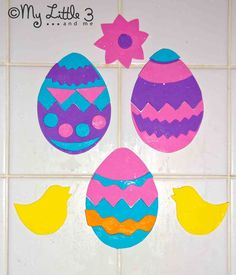 Foam Easter Egg Puzzles For The Bath cut out from foam sheets