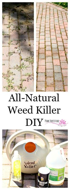 Did you know that glyphosate, used in Roundup, is one of the most toxic chemicals on the planet? There are plenty of all-natural ways to eliminate weeds. One of my favorite is this quick and easy weed killer DIY. It's great to use on pavers, sidewalks, and gravel or stone areas where weeds pop through. Bonus - no harmful chemicals!