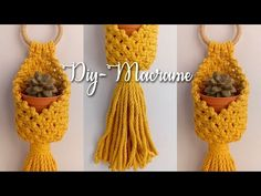 Wall Hanging Crafts, Macrame Projects, Paracord, Plant Hanger, Flower Pots, Easy Diy, The Creator, Knots, Pattern