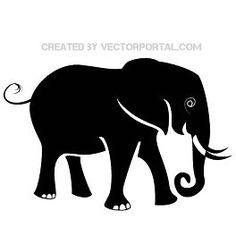 Elephant silhouette vector - Free vector image in AI and EPS format. Cartoon Elephant, Elephant Logo, Elephant Head, Elephant Silhouette, Silhouette Clip Art, Silhouette Design, Elephant Stencil, Advanced Higher Art, Elephant Family