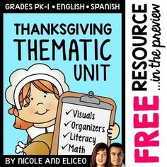 Thematic Thanksgiving Unit Activities                              …