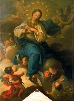 Galería Pintores Españoles :: Inmaculada. 1758. Palacio Arzobispal, Zaragoza. Francisco Bayeu y Subias