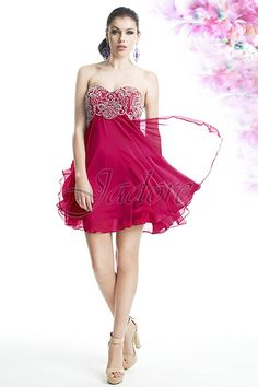 Jadore Evening cocktail dress J5014 as show in Hot Pink, also available in Iris, & Tango.  $250