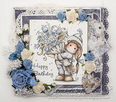 Handmade by Tamara: Tilda with big bouquet of flowers