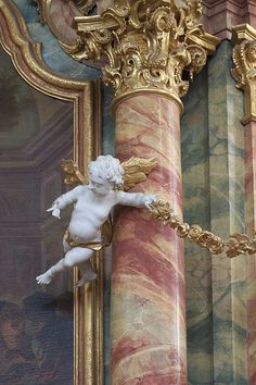 Marble Painting, Faux Painting, Marble Art, Detail Architecture, Art And Architecture, Marble Columns, Small Sculptures, Objet D'art, Architectural Elements
