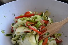 Zucchini Salad with Surprise!! BY: Žana Sliekaitė for the FullyRawKristina Recipe Competition!!