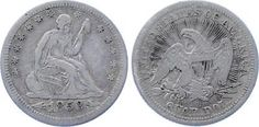 COIN United States 25 Cents Seated Liberty Quarter 1853 KM 78 XF- Silver Arrows