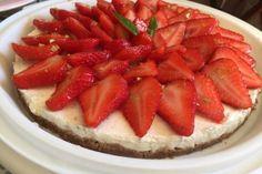 Tarte aux fraises sans cuisson Thermomix par Valivalou