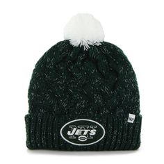 4126d70057467  15.95 Women s Knit New York Jets NY Beanie Crochet Hat Knit Beanie Hat