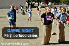Game Night {Neighborhood Games} - Kids Activities Blog